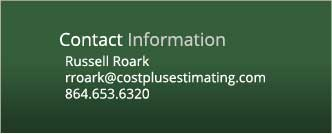 Contact Cost Plus Estimating